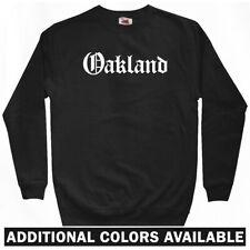 Oakland Gothic Sweatshirt Crewneck - CA California Raiders A's Bay - Men S-3XL