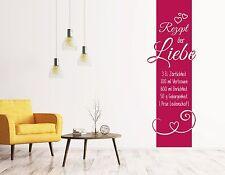 Wandtattoo Wohnzimmer Wandbanner Schlafzimmer Rezept der Liebe Hochzeit pkm180