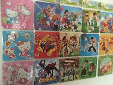 3 x 16pcs Kids puzzle cars, toy story, ben10, Hello kitty personnage de dessin a...