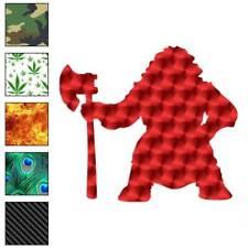Dwarf Warrior Axe Decal Sticker Choose Pattern + Size #622