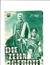 Kino Programm Die Zehn Gebote ...TEN Commandments Nr. 1117 November 1958