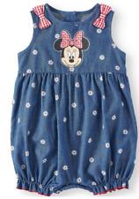 Minnie Mouse Baby Girl Romper Denim & Red Ruffle Bottom NWT NB 3 6 9 12 18 24