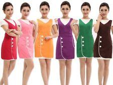 Women Solid Color Store Shop Restaurant Hotel Uniform Kitchen Art Bib Apron