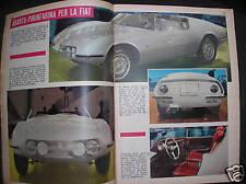 FIAT 1000 SPIDER ABARTH PININFARINA SU 300 ALL'ORA '64