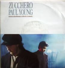 "7"" ZUCCHERO & Paul Young: senza una donna // MINT? \ \"