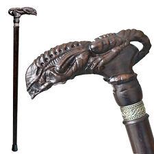 Custom Alien Xenomorph Wooden Walking Cane for Men Women - Handmade Men's Canes
