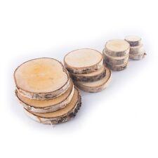 Wood Log Slices / 4 Sizes / Birch Tree Bark Discs / Centerpieces DIY Crafts
