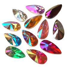 20pcs AB Teardrop Acrylic Crystal Rhinestone Cabochon Embellishment Gems Decoden