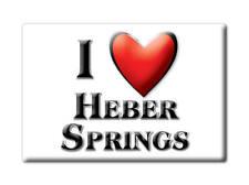 SOUVENIR USA - ARKANSAS FRIDGE MAGNET I LOVE HEBER SPRINGS (CLEBURNE COUNTY)