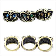 Stile retrò Vintage spesso cristallo dagli occhi anello gufo,misura IT 12.5,