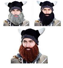 Vikingos indoeuropeos Bart gorra sombrero invierno gorro chulo invierno gorro m. 2 cuernos