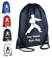 Personalised Martial art Kick boxing Karate Judo Tae kwon do Drawstring Kit bag