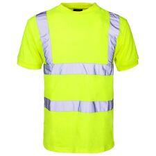 Supertouch jaune haute visibilité en polyester pour homme travail t tee shirt à manches courtes