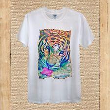 Tiger Wild Cat Nature T-shirt 100% Cotton unisex women