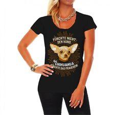 Frauen Damen T-Shirt Chihuahua Fürchte nicht den Hund kleinste Rasse Mexiko Dog