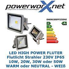 FLUTLICHT LED 10W 20W 30W 50W Watt Strahler Objektbeleuchtung IP65 FLUTER