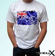 Bandera de las islas Cook-Blanco T Shirt Top Diseño de país-para Hombre Para Mujer Kids & Baby
