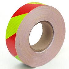 3M 10M 25M 38M Reflective Safety Warning Tape Sticker Strip Diagonals Red Yellow