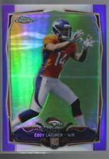 2014 Topps Chrome Retail Purple Refractor #211 Cody Latimer Denver Broncos Card
