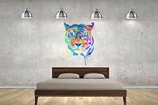 Tiger Watercolour Wall Sticker Wall Art Decals lounge bedroom children adult