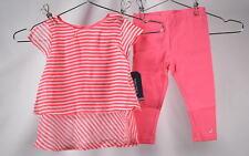 Infant Girls Nautica 2 piece Set Chiffon Fashion Top & Leggings, Pink