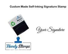 Custom Made Self-Surt signature stamp-Idéal for CHEQUE Books, etc.