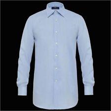 Camicia Celeste Ingram vestibilità regolare 100% Cotone Makò Egiziano No Stiro