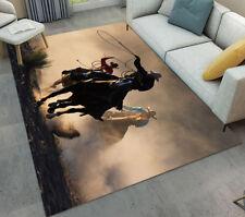 Western Cowboy Horse Race Floor Rug Carpet Living Room Doormat Nonslip Chair Mat
