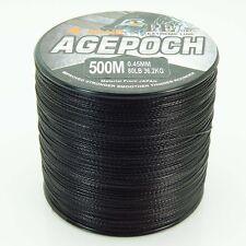 Black 100M 300M 500M 1000M 100% PE Dyneema Agepoch Braided Fishing Line Kite