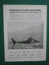 6/1980 PUB AGUSTA HELICOPTERE AGUSTA A109 POLICE HUBSCHRAUBER ORIGINAL  AD