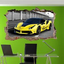 Veloce auto sportiva Ferrari Adesivi Murali 3D Arte Murale Camera Office Home Decor UT1
