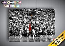 Poster MICHAEL JORDAN SHOOTING NBA BASKETBALL LEGEND