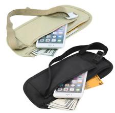 MONEYBELT Geldgürtel Hüfttasche Geheimtasche Security bag schwarz beige khaki