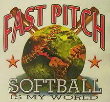 ALL AMERICAN GIRL FAST PITCH SOFTBALL IS MY WORLD SHIRT #250