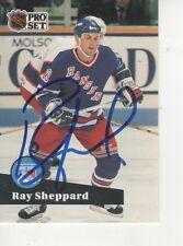 RAY SHEPPARD SIGNED 1991 PROSET #162 - NEW YORK RANGERS
