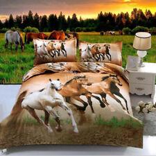 Horse Quilt/Duvet Cover Set Queen/King/Double Size Bed Linen New Doona Cover