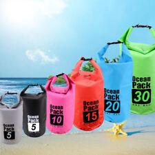 5/10/15/20/30L Waterproof PVC Dry Bag Sack Canoeing Kayaking Camping Boating