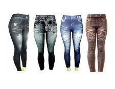 "Blue Jean  Black Jean  Tiger Print Belt Leggings ""Denim Jean"" Leggings"