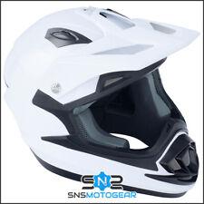 GSB XP-14B Full Face ACU Approved Motocross Enduro Off Road Helmet - Gloss White