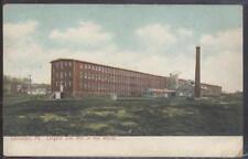 Postcard LANCASTER,Pennsylvania/PA  SILK MILL FACTORY view 1906?