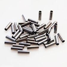 100pcs Copper Single Barrel Crimping Sleeves Copper Tube Connector 0.76-1.9mm
