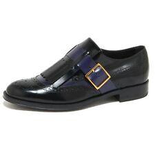 9185N scarpa allacciata TOD'S nero/blu scarpe donna shoes women