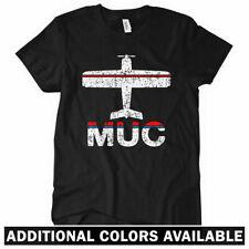 Fly Munich MUC Airport Women's T-shirt - DE Germany Lufthansa Plane - S to 2XL