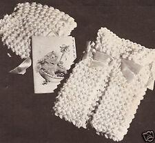 Vintage Knitting PATTERN to make Washcloth Dish Cloth Baby Shower Gift KnittedDi