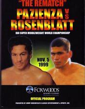 Vinny Pazienza vs Dana Rosenblatt Boxing Program 1999