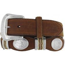 Tony Lama Western Mens Belt Leather Brown Cutting 9119L
