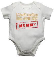 BABY Gilet BODYSUITS BABY cresce non mi fanno appello la mia mamma cotone Unisex