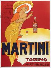 PLAQUE ALU DECO ALCOOL MARTINI TORINO ROSSI