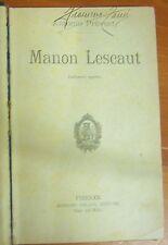 LIBRO - MANON LESCAUT - ANTONIO PREVOST - ADRIANO SALANI EDITORE 1924