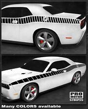 Dodge Challenger CUDA Full Strobe Side Stripes Decals 2011 2012 2013 2014